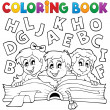 Coloring book kids theme 5 — Stock Vector