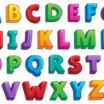 Image with alphabet theme 1 — Stock Vector