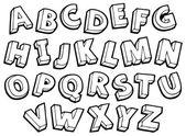 Image with alphabet theme 4 — Stock Vector