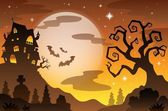 Halloween topic background 2 — Stock Vector