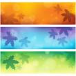 Autumn theme banners 1 — Stock Vector
