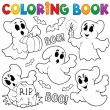 Coloring book ghost theme 1 — Stock Vector