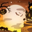 Halloween topic background 4 — Stock Vector