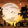 Halloween topic scene 3 — Stock Vector #30599229
