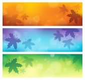 Autumn theme banners 1 — Stock Vector
