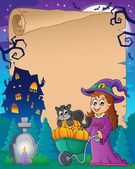 Halloween parchment 6 — Stock Vector