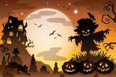 Halloween topic scene 3 — Stock Vector