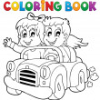 Coloring book car theme 1 — Stock Vector