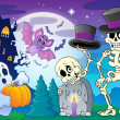 Halloween topic scene 5 — Vector de stock