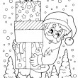 Coloring book SantClaus topic 8 — Stock Vector #31331005