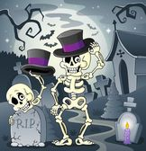 Skeleton theme image 2 — Stock Vector