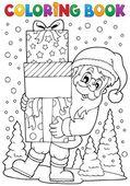 Coloring book Santa Claus topic 8 — Stock Vector