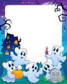 Halloween theme frame 1 — Stock Vector