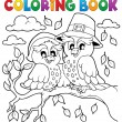 Coloring book Thanksgiving image 5 — Stock Vector #32436745