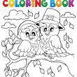 Stock Vector: Coloring book Thanksgiving image 5