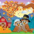 Thanksgiving thema afbeelding 4 — Stockvector