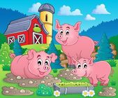 Pig theme image 1 — Stock Vector