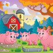 Pig theme image 2 — Stockvectorbeeld