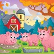 Pig theme image 2 — Stock Vector