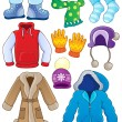 Stock Vector: Winter clothes collection 3
