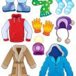 Winter clothes collection 3 — Stock Vector #32441605