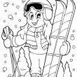 Coloring book skiing theme 1 — Stock Vector #32444847