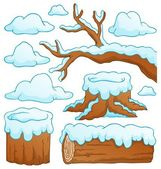 Log theme collection 2 — Stock Vector