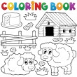 Coloring book sheep theme 1 — Imagen vectorial