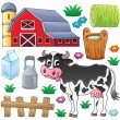 Cow theme collection 1 — Stock Vector