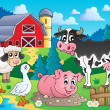 Farm animals theme image 3 — Stock Vector