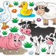 Farm animals set 1 — Stock Vector