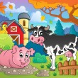 Farm animals theme image 2 — Stockvectorbeeld