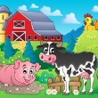 Farm animals theme image 1 — Stock Vector