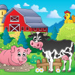 Stock Vector: Farm animals theme image 1