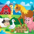 Farm animals theme image 5 — Stockvektor