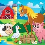 Farm animals theme image 5 — Stock Vector
