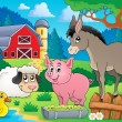 Farm animals theme image 6 — Stock Vector