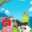 Stock Vector: Farm animals theme image 4