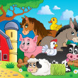 Farm animals topic image 3 — Stock Vector