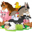 Farm animals topic image 2 — Stock Vector #33500335