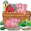 Pig theme image 4 — Stock Vector