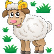 Happy cartoon ram — Stock Vector