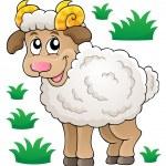 Happy cartoon ram — Stock Vector #33500665
