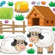Stock Vector: Sheep theme collection 1