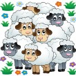 Sheep theme image 3 — Image vectorielle
