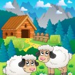 Sheep theme image 2 — Image vectorielle