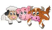 Farm animals topic image 1 — Stock Vector