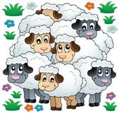 Obrázek motivu ovce 3 — Stock vektor