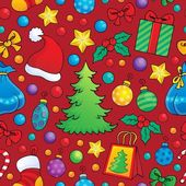 Christmas seamless background 1 — Stock Vector