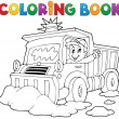Coloring book snow plough — Stock Vector #34823097